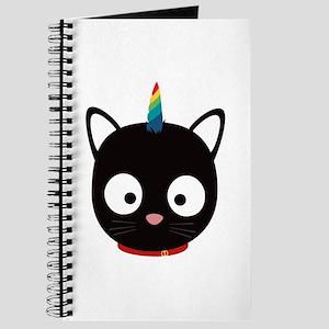 Unicorn Cat with rainbows C0ml8 Journal