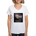 Tesla Universe Women's V-Neck T-Shirt