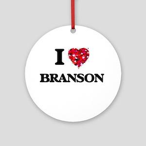 I Love Branson Ornament (Round)