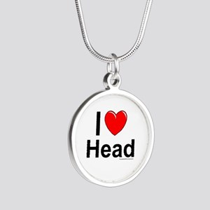 Head Silver Round Necklace
