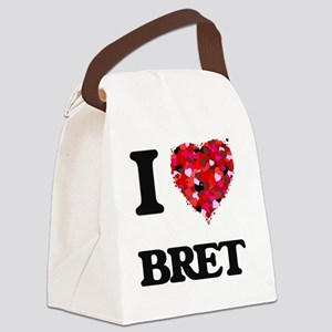 I Love Bret Canvas Lunch Bag