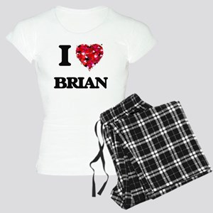 I Love Brian Women's Light Pajamas