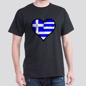 Greek Heart Dark T-Shirt