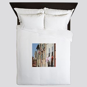 Nice, South of France Queen Duvet