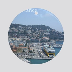 Nice harbor, South of France Ornament (Round)
