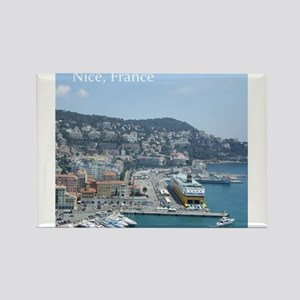 Nice harbor, South of France Magnets
