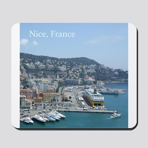 Nice harbor, South of France Mousepad