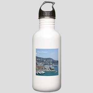 Nice harbor, South of France Sports Water Bottle