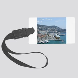 Nice harbor, South of France Large Luggage Tag