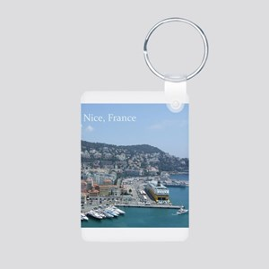 Nice harbor, South of France Keychains