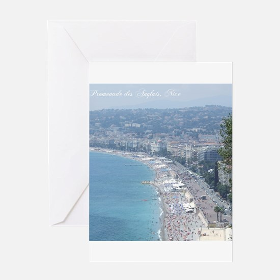 Nice Beach, South of France Greeting Cards