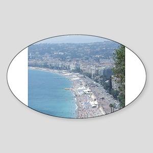 Nice Beach, South of France Sticker