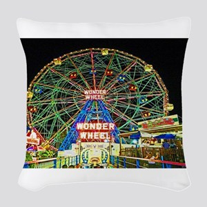 Coney Island's wonderous Wonde Woven Throw Pillow