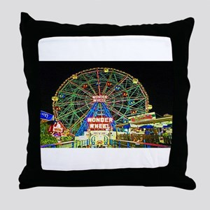 Coney Island's wonderous Wonder Wheel Throw Pillow