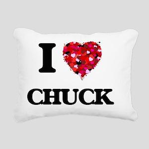 I Love Chuck Rectangular Canvas Pillow