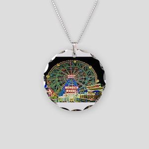 Coney Island's wonderous Won Necklace Circle Charm