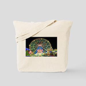 Coney Island's wonderous Wonder Wheel Tote Bag