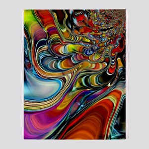 Abalone Shell Abstract Art Throw Blanket