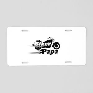 Biker Papa Aluminum License Plate