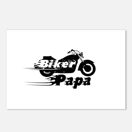 Biker Papa Postcards (Package of 8)