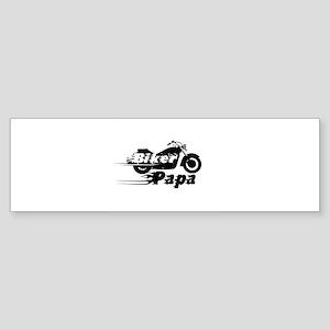 Biker Papa Bumper Sticker