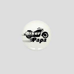 Biker Papa Mini Button