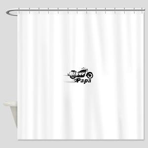Biker Papa Shower Curtain
