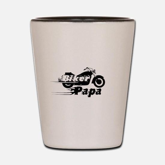 Biker Papa Shot Glass