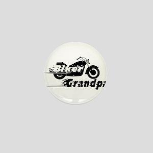 Biker Grandpa Mini Button