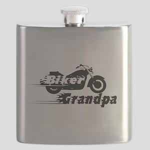 Biker Grandpa Flask
