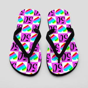 50th Loving You Flip Flops