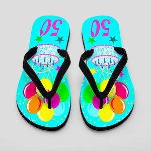 50th Celebration Flip Flops