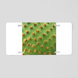 Green cactus Aluminum License Plate