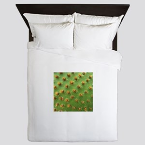 Green cactus Queen Duvet