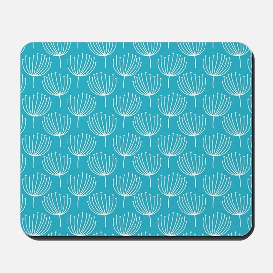 Abstract Dandelions on Crisp Blue Backgr Mousepad