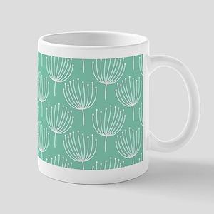 Abstract Dandelions on Pastel Aqua Mug