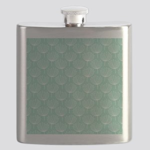 Abstract Dandelions on Pastel Aqua Flask