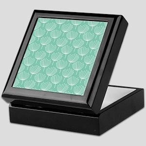 Abstract Dandelions on Pastel Aqua Keepsake Box