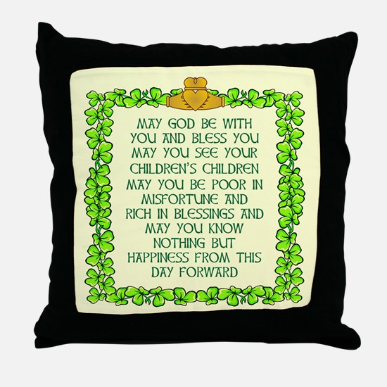 Scott Designs Irish Blessing Throw Pillow