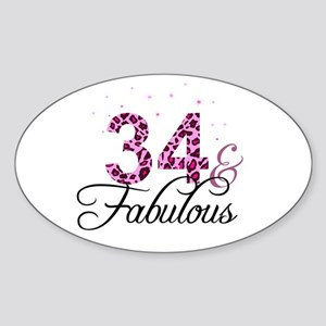 34 and Fabulous Sticker