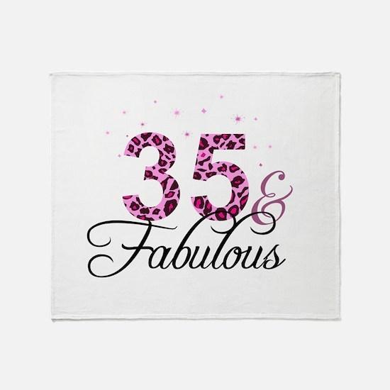 35 and Fabulous Throw Blanket