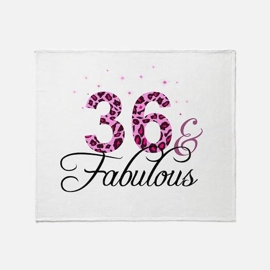 36 and Fabulous Throw Blanket