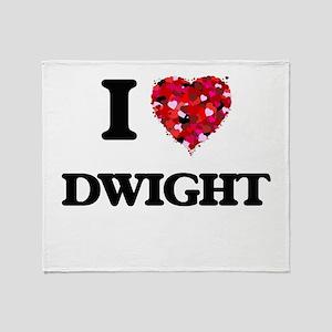 I Love Dwight Throw Blanket