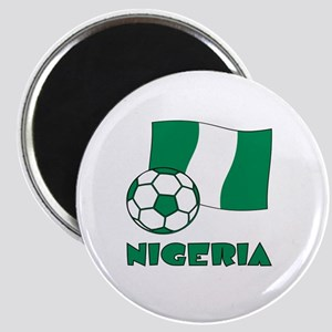 Nigeria Flag and Soccer Magnets