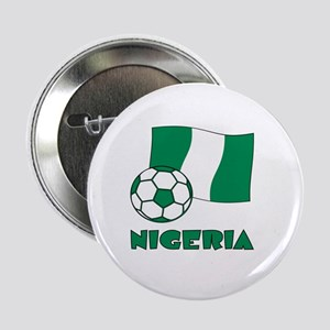 """Nigeria Flag and Soccer 2.25"""" Button"""