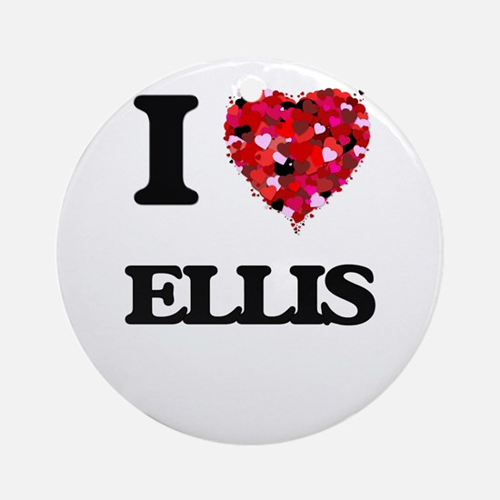 I Love Ellis Ornament (Round)