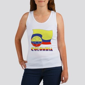 Colombian Soccer Ball and Flag Women's Tank Top