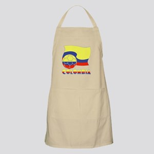 Colombian Soccer Ball and Flag Apron