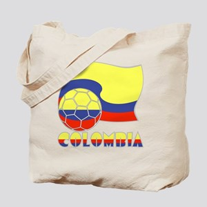 Colombian Soccer Ball and Flag Tote Bag