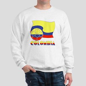Colombian Soccer Ball and Flag Sweatshirt